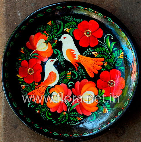 Acrylic Painting On Plate Learn Crafts From Flora
