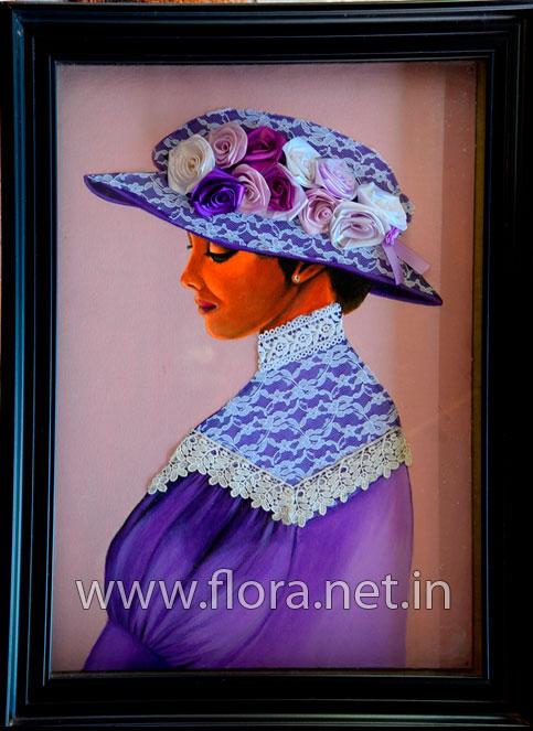 European Lady Ribbon Art