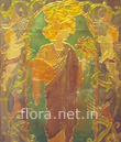Antique glass painting